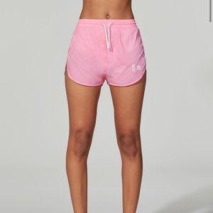 LESGIRLSLESBOYS X Barry's Pink Nylon Shorts